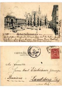 CPA MILANO. Piazza del Duomo. ITALY (521514)