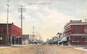 Scottville Michigan~Main Street~State Bank~Palace~Restaurant~Dirt Road~1911 PC