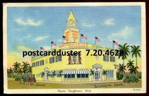 dc51 - MIAMI Florida Postcard 1940s Mayflower Shops