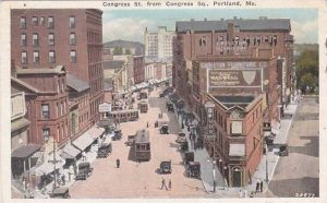 Maine Portland Junction Of Free & Middle Streets Hays Drug Store 1927