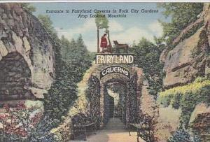 Tennessee Lookout  mountain Entrance To Fairyland Caverns In Rock City Garden...
