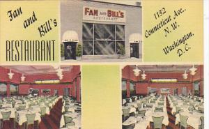 Interior Fan and Bill's Restaurant Washington DC