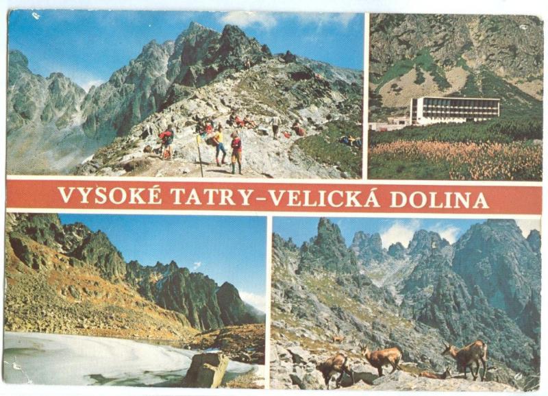 Slovakia, VYSOKE TATRY VELICKA DOLINA, The High Tatras, used Postcard