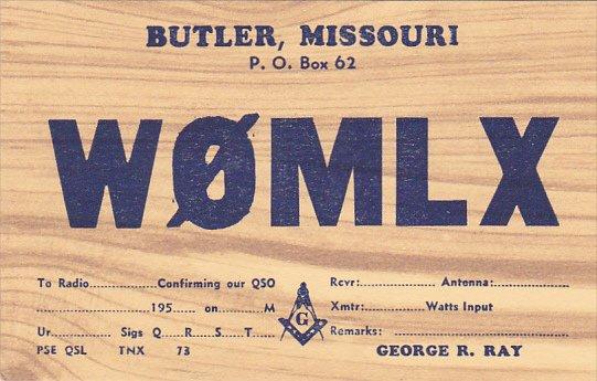 Missouri Butler George Ray Three Rivers Amateur Radio Club