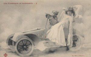 Une Promenade en Automobile , Boy drives girl , 1901-07