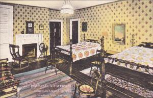 West Virginia Lewisburg The Master Chamber General Lewis Hotel Handcolored Al...