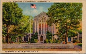 Pennsylvania PA Valley Forge Washington Memorial Chapel Postcard Old Vintage PC