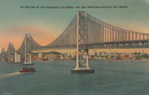 CALIFORNIA , 30-40s; Skyline of SAN FRANCISCO & San Francisco-Oakland Bay Bridge