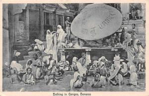 India Bathing in Ganges, Benares