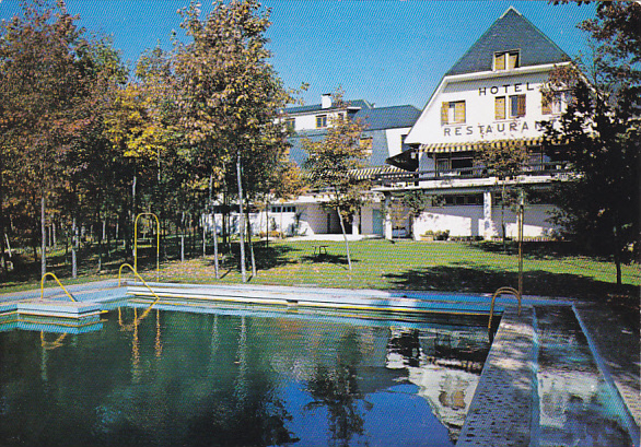 Spain Madrid Alaska Hotel Swimming Pool Hippostcard
