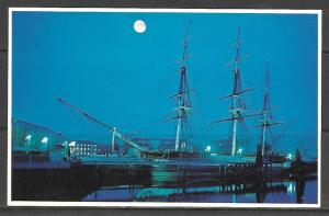 Massachusetts, Boston - Twilight At U.S.S. Constitution - [MA-150]