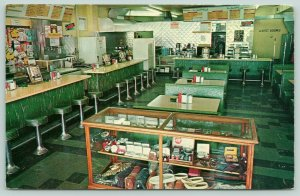 Schofield Wisconsin~Ed's Cafe~Interior~Counter Jukebox~Ashtrays~Souveniers~1950s