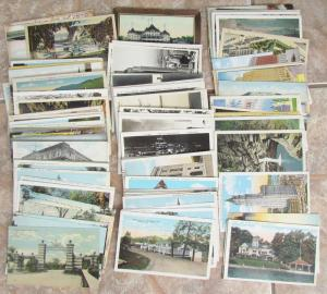 LOT OF 124 ANTIQUE & VINTAGE POSTCARDS - VIEWS OF NEW YORK