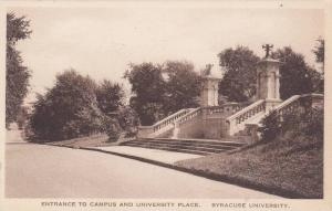 Entrance to Campus and University Place, Syracuse University, New York, 10-20s