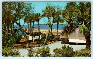 PINELLAS COUNTY, FL ~ Tent,Tent Trailer FORT DeSOTO PARK Campers Area Postcard
