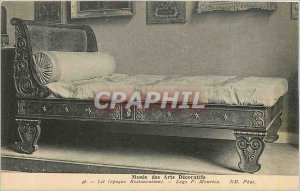 Old Postcard Musee des Arts Decoratifs bed (Restoration Era) Legs P Maurice