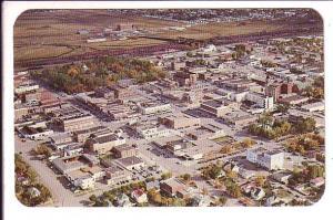 Aerial of Downtown, Lethbridge, Alberta,
