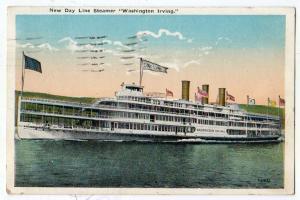 New Day Line Steamer Washington Irving, PM Poughkeepsie NY