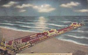 New Jersey Atlantic City World Famous Steel Pier At Night