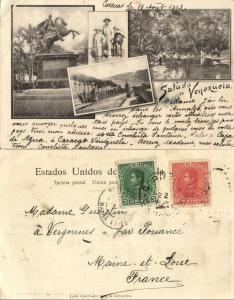 venezuela, CARACAS, Puente de Hierro, Estatua de Bolivar (1903) Postcard