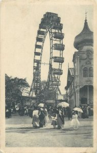 Post card Ferris wheel Prater Park Wien Austria