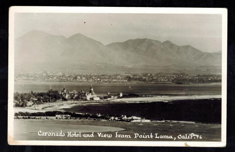 Mint RPPC Coronado Hotel California Postcard point Loma