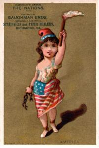 VICTORIAN TRADE CARD, THE NATIONS