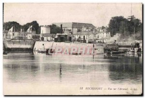 Rochefort sur Mer - View the Arsenal - Old Postcard