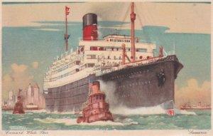 Cunard White Star Line Ocean Liner SAMARIA , 1920-30s ; Kenneth Shoesmith