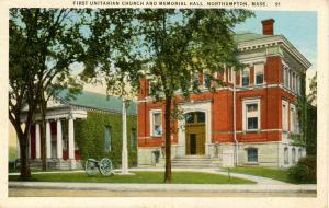 MA - Northampton. First Unitarian Church & Memorial Hall