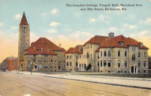 Baltimore Maryland~Goucher College~Vingolf Hall~Maryland @ 24th~1910 Postcard