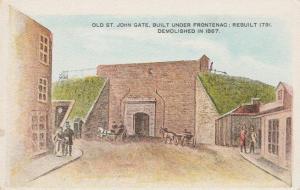 Old St John Gate under Frontenac - Quebec, Canada