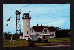 MA CHATHAM Lighthouse & Coast Guard Station Light House Massachusetts Postcard