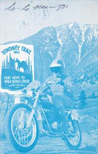 Motorcycle, Dewdney Trail, Fort Hope to Wild Horse Creek, B.C. , Canada , 50-60s