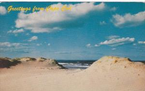 Massachusetts Greetings From Cape Cod Showing Sand Dunes 1964