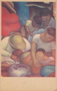 Noche De Los Pobres, Night Of The Poor, Fresco de Diego Rivera, MEXICO, 1900-...