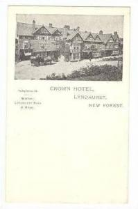 Stagecoach at Crown Hotel, Lyndhurst, New Forest, UK< 00-10s