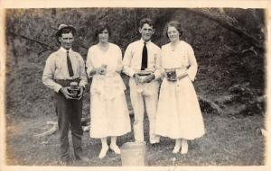 Panama Canal Zone Picnic Scene? People Real Photo Antique PC (J29153)