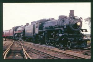 Canadian Pacific No 1271 Doubleheads NRHS Special Steam Train Railroad Postcard