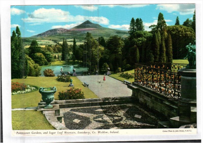 ENNISKERRY, County Wicklow, Ireland; Powerscourt Gardens, and Sugar Loaf Moun...