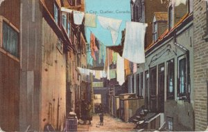 Sous Le Cap Quebec Canada City Alley Clothesline Canada Series Postcard