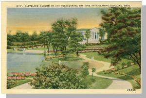 Cleveland, Ohio/OH Postcard, Museum Of Art/Fine Arts Garden