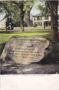 Stone Boulder, Lexington Green, Lexington, Massachusetts, 1900-1910s