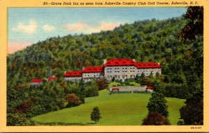 North Carolina Asheville Grove Park Inn Seen From Asheville Country Club Golf...