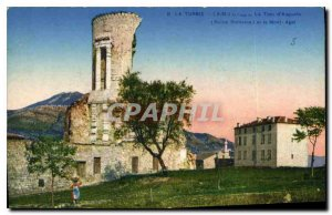 Old Postcard La Turbie AM The Tower of Augustus and the Mont Agel