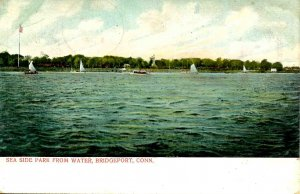 CT - Bridgeport. Sea Side Park from Water   (crease)