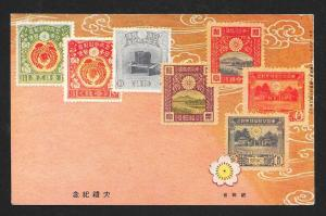 JAPAN Stamps on Postcard Used c1938