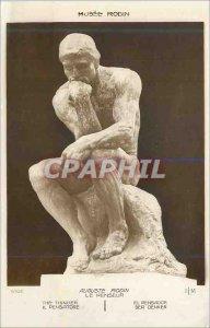 Old Postcard Musee Rodin august rodin thinker