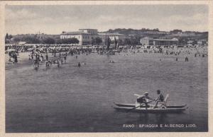 FANO , Italy ; 1910-20s , Spiaggia e Al Bergo Lido