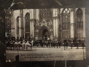 Mint England RPPC Postcard Royal Visit To Edinburg King George V & Queen